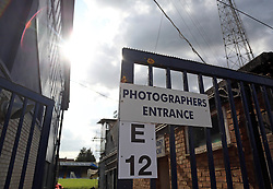 A general view of the photographers entrance at Roots Hall, home of Southend United - Mandatory by-line: Joe Dent/JMP - 20/08/2019 - FOOTBALL - Roots Hall - Southend-on-Sea, England - Southend United v Peterborough United - Sky Bet League One