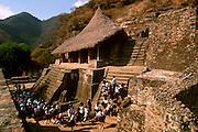 MEXICO, PREHISPANIC, AZTEC Malinalco, eagle and jaguar temple