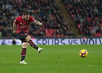 Football - 2018 / 2019 Premier League - Tottenham Hotspur vs. Southampton <br /> <br /> Cedric Soares (Southampton FC ) stikes at the goal at Wembley Stadium.<br /> <br /> COLORSPORT/DANIEL BEARHAM