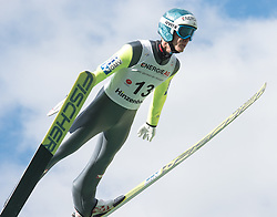 27.09.2015, Energie AG Skisprung Arena, Hinzenbach, AUT, FIS Ski Sprung, Sommer Grand Prix, Hinzenbach, im Bild Michael Hayböck (AUT) // during FIS Ski Jumping Summer Grand Prix at the Energie AG Skisprung Arena, Hinzenbach, Austria on 2015/09/27. EXPA Pictures © 2015, PhotoCredit: EXPA/ Reinhard Eisenbauer