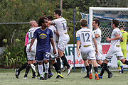 Team Wellington's Joel Stevens seals the match and books Team Wellington's place in the ISPS Handa Premiership final. ISPS Handa Premiership Semi Final, Auckland City FC v Team Wellington, Kiwitea Street, Auckland, Sunday 24th March 2019. Copyright Photo: Shane Wenzlick