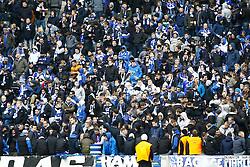 14.03.2015, Olympiastadion, Berlin, GER, 1. FBL, Hertha BSC vs Schalke 04, 25. Runde, im Bild Schalke-Fans in der Westkurve,  // SPO during the German Bundesliga 25th round match between Hertha BSC and Hertha BSC vs Schalke 04 at the Olympiastadion in Berlin, Germany on 2015/03/14. EXPA Pictures © 2015, PhotoCredit: EXPA/ Eibner-Pressefoto/ Hundt<br /> <br /> *****ATTENTION - OUT of GER*****