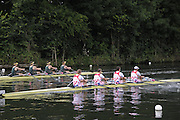 Henley, Great Britain.  Henley Royal Regatta. M4X, Queen Mother Challenge Cup, Australian Institute of Sport, AUS [Bucks], and CARC Mladost and RC Tresnjevka, CRO [Berks], power away from the Start, in their Semi-Final. River Thames Henley Reach.  Royal Regatta. River Thames Henley Reach.  Saturday  02/07/2011  [Mandatory Credit  Intersport Images] . HRR