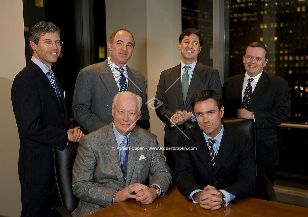 Partners of Centerview, a new investment bank being started by several former CEO's: (left to right - top) Robert A. Pruzan, Adam Chinn, Blair Effron, David Hooper. (Left to right - bottom) Jim Kilts and Steve Crawford. Feb. 11, 2008.