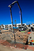 Construction site work on new hotel building, Corralejo, Fuerteventura, Canary Islands, Spain
