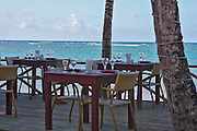 Caribbean beach front restaurant. Photographed in the Dominican Republic Samana Peninsula