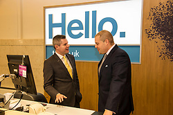 Pictured: Derek Mackay was shown behind the scenes by branch manager Richie Bowman<br /> <br /> Today, Finanace Secretary Derek Mackay opened the newly refurbished TSB branch on Hanover Street in Edinburgh.  Mr Mackay met with staff and customers and toured the facilities. <br /> <br /> Ger Harley   EEm 18 Novcember 2016
