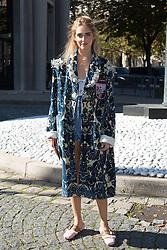 Chiara Ferragni arriving at Miu Miu fashion show during the fashion week in Paris, France on octobre 05, 2016. Photo by Nasser Berzane/ABACAPRESS.COM.