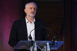 London, UK. 20th November, 2018. Jeremy Corbyn, Leader of the Opposition, addresses education staff, parents, governors, councillors, MPs and students at a March for Education rally to protest against crises involving education funding, recruitment, staff retention and remuneration.
