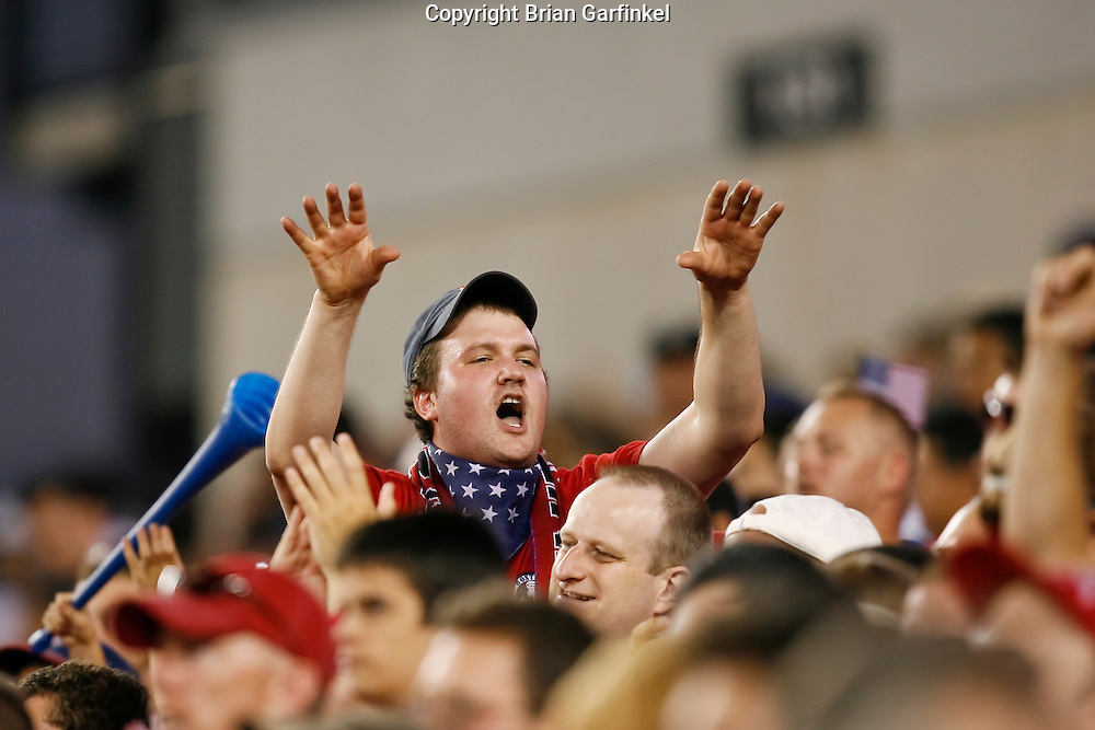July 18 2009: A USA fan in the stands during the game between USA and Panama. The United States defeated Panama 2-1 in added extra time in a CONCACAF Gold Cup quarter-final match at Lincoln Financial Field in Philadelphia, Pennsylvania.