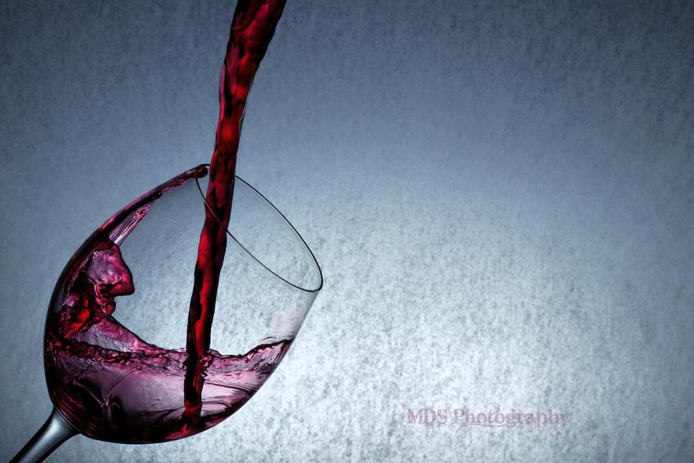 Red wine glass splash