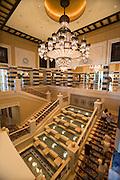 Madinat Jumeirah Resort. Al Qasr Hotel. Swarovski crystal candelaber at the staircase.