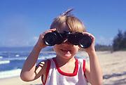 Boy with binoculars<br />