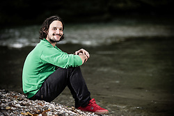 Portrait of Gaj Trcek next to a river Kokra, on October 8, 2021 in Kranj, Slovenija. Photo by Vid Ponikvar / Sportida