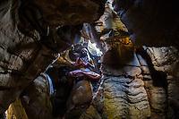 Yogi Amit in a cave located in the center of Rishikesh Yoga Ashram, Rishikesh - India