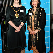 Councillor Sally Littlejohn and Councillor Naheed Asghar attend Awareness gala hosted by the Health Committee with live music and poetry performances at City Hall at The Queen's Walk, London, UK. 18 March 2019.