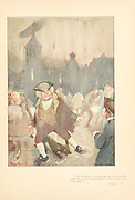 Rain storm From the book Mr. Munchausen; being a true account of some of the recent adventures beyond the Styx of the late Hieronymus Carl Friedrich, sometime Baron Munchausen of Bodenwerder, as originally reported for the Sunday edition of the Gehenna Gazette by its special interviewer the late Mr. Ananias formerly of Jerusalem and now first transcribed from the columns of that journal. by Bangs, John Kendrick, (1862-1922) Published in Boston by Noyes, Platt & company 1901 with artwork by Peter Newell