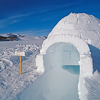 ANTARCTICA. Igloo built by climbers at Patriot Hills expedition base in the Ellsworth Mountains.
