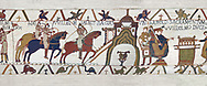 Bayeux Tapestry Scene 22 - Harold and  Duke William return to Bayeux together,  BYX22