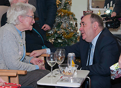 First Minister Alex Salmond, accompanied by Santa Clause, visited the Dean Club in Stiockbridge Edinburgh today to distribute Christmas presenets to the residents (c) GER HARLEY   StockPix.eu