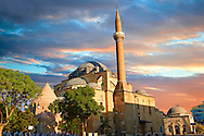 Serafeddin Camii (Mosque) Konya, Turkey .<br /> <br /> If you prefer to buy from our ALAMY PHOTO LIBRARY  Collection visit : https://www.alamy.com/portfolio/paul-williams-funkystock/konya.html<br /> <br /> Visit our TURKEY PHOTO COLLECTIONS for more photos to download or buy as wall art prints https://funkystock.photoshelter.com/gallery-collection/3f-Pictures-of-Turkey-Turkey-Photos-Images-Fotos/C0000U.hJWkZxAbg