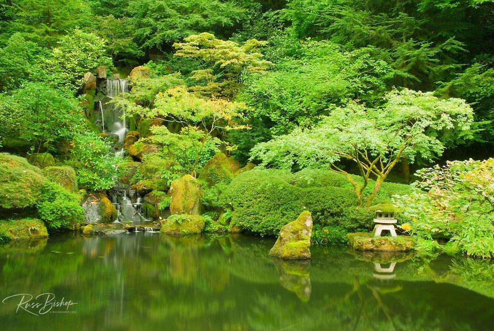 Pagoda and pond at the Japanese Garden, Portland, Oregon