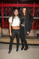 Left to right, BIP LING and DAISY MILLMAN at the 3rd anniversary party of Sushisamba at the Heron Tower, 110 Bishopsgate, City of London on 10th November 2015.