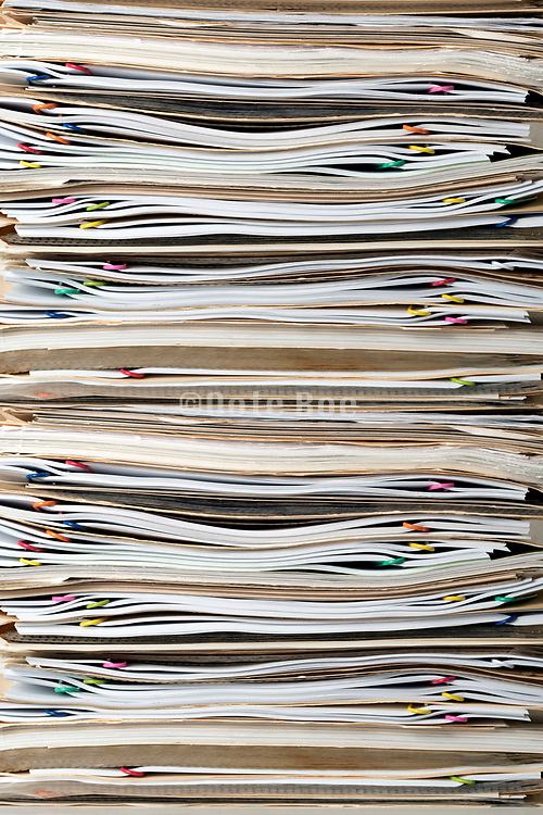 close up stack office papers