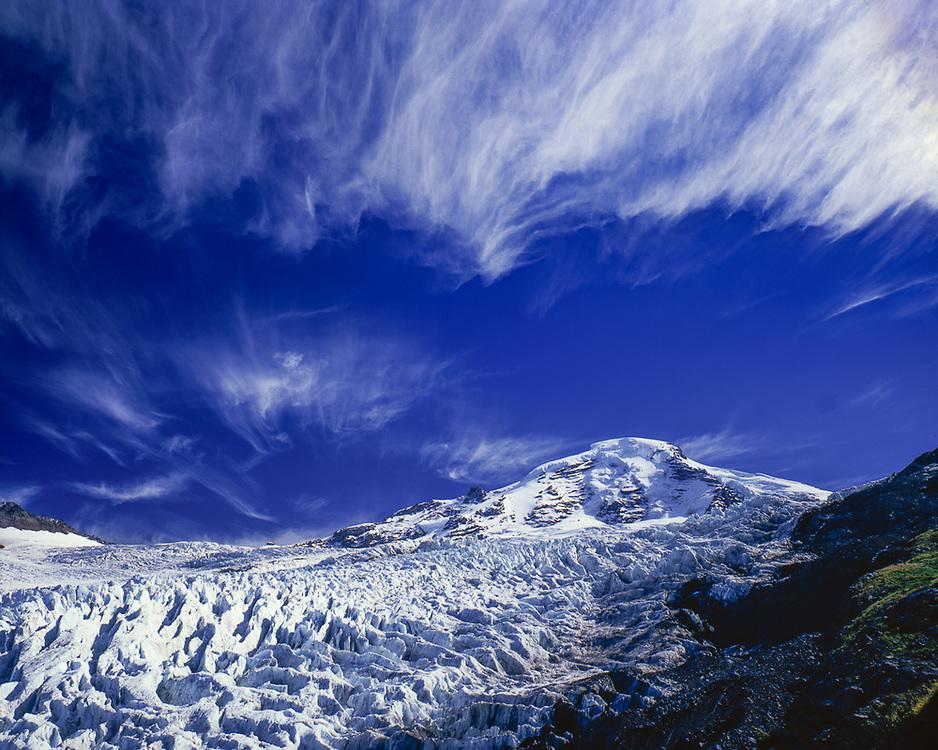 Mount Baker and Coleman Glacier, summer, Mount Baker Wilderness, Washington, USA