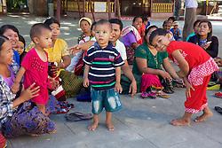 Group Of Burmese People At Lawka Nanda