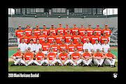 2009 Miami Hurricanes Baseball Team Photo