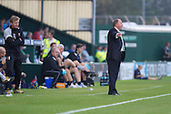 Gary Johnson (right), Manager of Yeovil Town  during the Capital One Cup match, 2nd round, Yeovil Town v Birmingham City at Huish Park in Yeovil on Tuesday 27th August 2013. pic by Sophie Elbourn, Andrew Orchard sports photography,