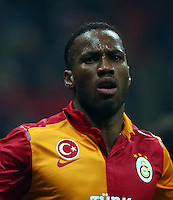 UEFA Champions League Quarter Final second leg match between Galatasaray and Real Madrid at Turk Telekom Arena Stadium on April 9, 2013 in Istanbul, Turkey.<br /> Match Scored: Galatasaray 3 - Real Madrid 2<br /> Pictured: Didier Drogba of Galatasaray.