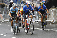 Men Road Race 230,4 km, Matteo Trentin (ITA - Mitchelton - Scott), Davide Cimolai (ITA - Groupama - FDJ) , during the Cycling European Championships Glasgow 2018, in Glasgow City Centre and metropolitan areas, Great Britain, Day 11, on August 12, 2018 - Photo Luca Bettini / BettiniPhoto / ProSportsImages / DPPI - Belgium out, Spain out, Italy out, Netherlands out -
