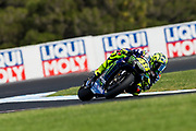 25th October 2019; Phillip Island Grand Prix Circuit, Phillip Island, Victoria, Australia; Australian Moto GP, Practice day; The number 46 Monster Energy Yamaha rider Valentino Rossi during free practice 2 - Editorial Use
