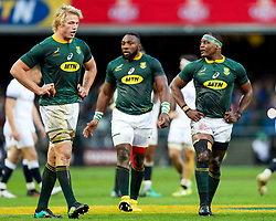 Pieter-Steph du Toit with Chiliboy Ralepelle of South Africa - Mandatory by-line: Steve Haag/JMP - 23/06/2018 - RUGBY - DHL Newlands Stadium - Cape Town, South Africa - South Africa v England 3rd Test Match, South Africa Tour
