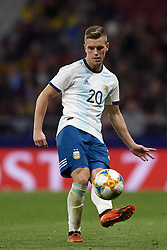 March 22, 2019 - Madrid, Madrid, Spain - Giovani Lo Celso (Betis) of Argentina does passed during the international friendly match between Argentina and Venezuela at Wanda Metropolitano Stadium in Madrid, Spain on March 22 2019. (Credit Image: © Jose Breton/NurPhoto via ZUMA Press)