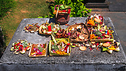 Offerings at Tanah Lot Temple, Bali, Indonesia
