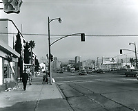 1960 Looking north on Vine St. at Fountain Ave