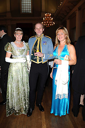 Left to right, KYM ERLICH, CAPT.HUGH BEATTIE and SOPHIE EYNON at the 13th annual Russian Summer Ball held at the Banqueting House, Whitehall, London on 14th June 2008.<br /><br />NON EXCLUSIVE - WORLD RIGHTS