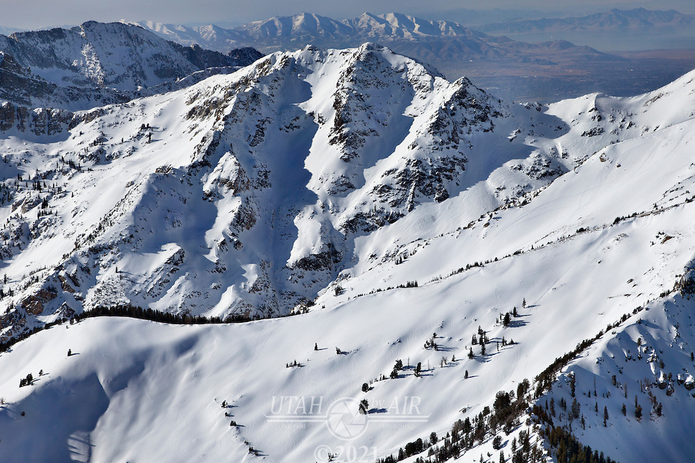snowy peaks in American Fork Canyon