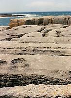 Rocky shoreline in the Burren, County Clare, Ireland