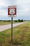 A narrow stretch of Route 66 in Oklahoma. Missoula Photographer