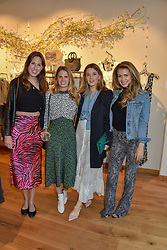 Tilly Secombe from Storm Vision, Davina Collas, Tarka Russell, Alice Law at a cocktail and dinner hosted by fashion label Free People at Free People 38-39 Duke of York Square, Chelsea, London England. 21 May 2019.