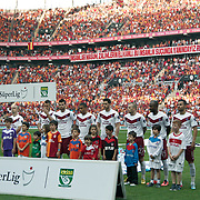 Trabzonspor's players during their Turkish superleague soccer derby match Galatasaray between Trabzonspor at the AliSamiYen spor kompleksi TT Arena in Istanbul Turkey on Saturday, 18 May 2013. Photo by Aykut AKICI/TURKPIX