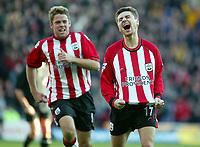 Photograph: Scott Heavey.<br />Southampton v Portsmouth. FA Barclaycard Premiership. 21/12/2003.<br />Marian Pahars celebrates Southampton's second