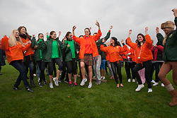 Miss Scotland Jennifer Reochs leads a highland dance..The Miss World 2011 contestants take part in Highland Games in the grounds of Crieff Hydro, Perthshire..MISS WORLD 2011 VISITS SCOTLAND..Pic © Michael Schofield.