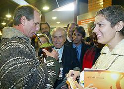 Leonel de Moura Brizola durante encontro com Ciro Gomes e Patricia Pillar na campanha para presidente em 2002, em Porto Alegre, RS. FOTO: Jefferson Bernardes/Preview.com