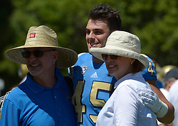 April 29, 2017 - Los Angeles, California, U.S. - UCLA Bruins Giovanni Gentosi (45) poses for a picture during the UCLA football Spring Showcase on Saturday, April 29, 2017 in Los Angeles. (Photo by Keith Birmingham, Pasadena Star-News/SCNG) (Credit Image: © San Gabriel Valley Tribune via ZUMA Wire)