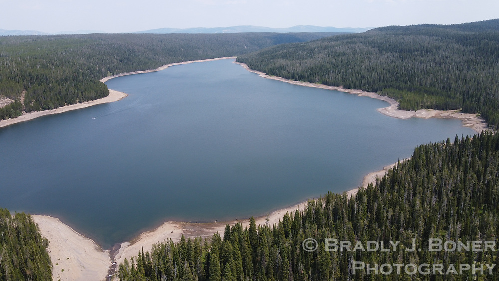 Aerials of Grassy Lake Reservoir